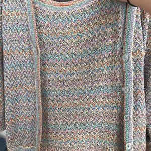 Missoni cardigan and knit dress set : size s